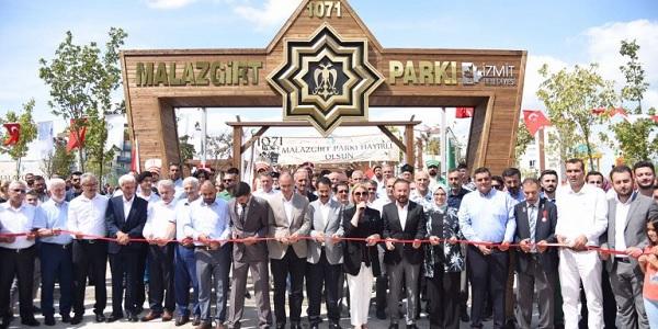 İzmit'in 1071 Malazgirt Parkı görkemli bir törenle açıldı
