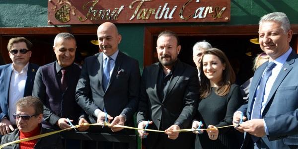 İzmit Tarih Koridoru Derneği'nin ilk projesi 'Tarihi Çarşı' açıldı