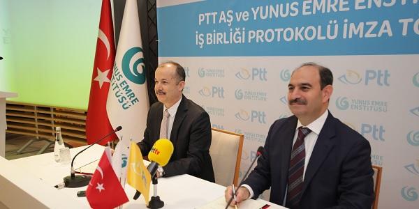 PTT AŞ ve Yunus Emre Enstitüsü'nden Kültürlerarası İş Birliği
