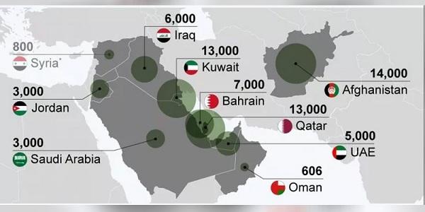 ABD'nin Ortadoğu'daki üsleri nerede ve ne kadar askeri var