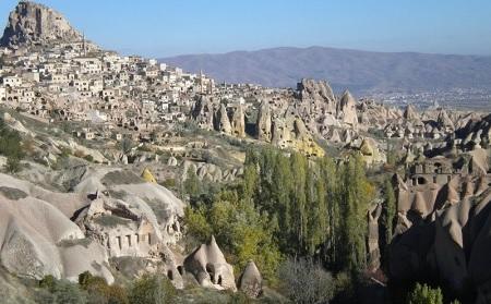 Uçhisar-Kapadokya-Türkiye'de gezilecek yerler-Güvercinlik Vadisi