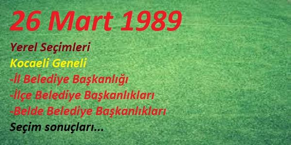 26 Mart 1989 yerel seçimleri