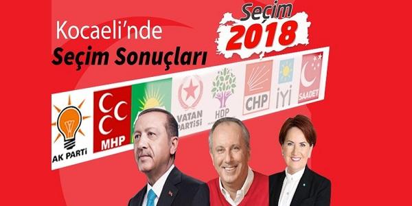 24 Haziran 2018 Cumhurbaşkanlığı seçimi Kocaeli sonuçları
