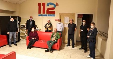 Başkan Hürriyet 112 ve afet koordinasyon merkezi çalışanlarına moral verdi