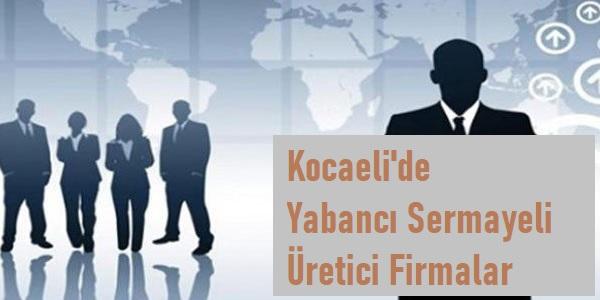 Kocaeli'de Yabancı Sermayeli üretici firma listesi