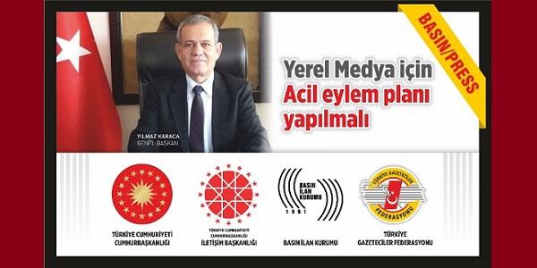 Yerel Medya için TGF İletişim Başkanlığına çağrı yaptı