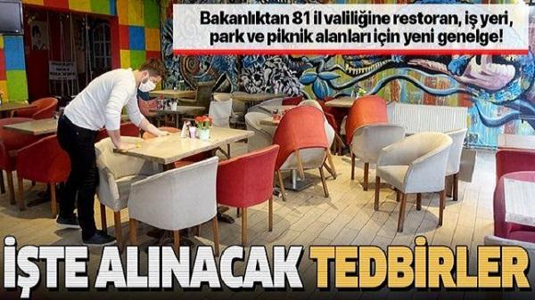 İçişleri Bakanlığından kafe-restoran gibi işletmelere yönelik genelge
