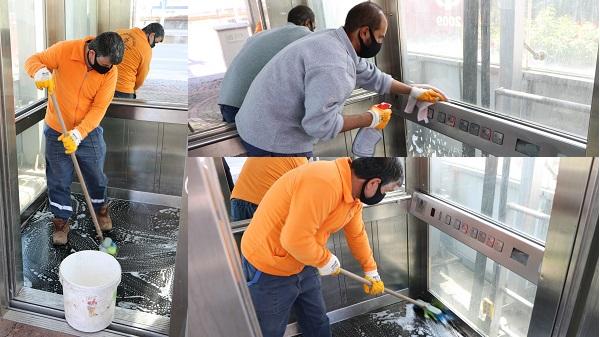 Yaya üstgeçit asansörleri sık sık temizleniyor