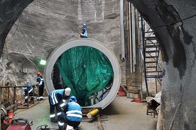 Darıca Eskihisar atıksu tüneli inşaatı