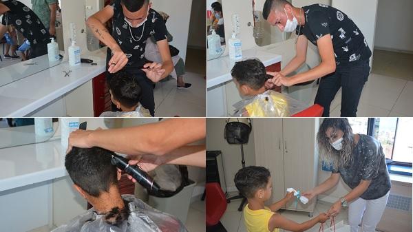 Çocuklarımızın bayram tıraşı İzmit Belediyesinden