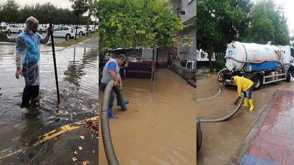 İzmit'te metrekareye 2 saatte 62 kg yağış düştü