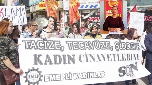 Kadın hakları ve cinayetlerinin sorumlusu AKP iktidarıdır