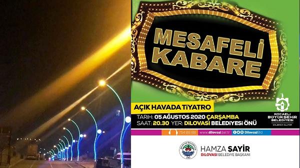 Dilovalılar 'Mesafeli Kabare' tiyatro oyunuyla yarın buluşuyor