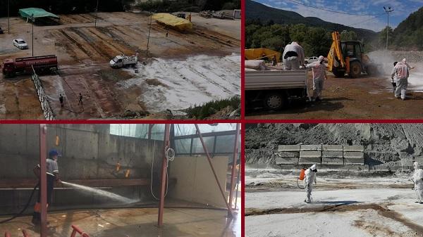 Gölcük Belediyesi Kurbanlık alanlarını dezenfekte etti