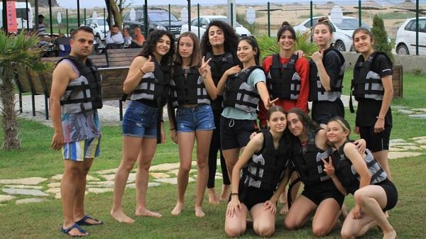 Sarısu Gençlik Kampında İzmitli atletizmciler moral depoladı
