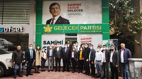 Gelecek Partisi Kocaeli'nin kurmayları 3 ilçe teşkilatını ziyaret